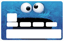 STICKER MONSTRE CARTE BANCAIRE CREDIT CARD CB SKIN AUTOCOLLANT STICKER CC069
