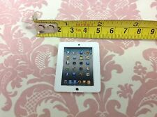 Dollhouse Miniature Office/Work/Play White Metal Apple Pad Model Tablet PC 1:12