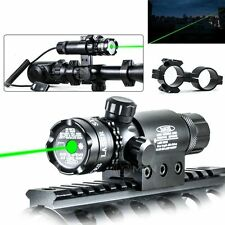 Chargable Green Laser Sight Gun Rail Mount Dual Ring & Remote Switch Hunting