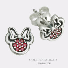 Authentic Pandora Silver Disney Minnie Red CZ Stud Earrings 290580CZR