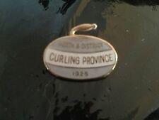 insigne badge broche sport curling ice perth district 1925 email