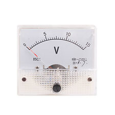 DC 15V Analog Panel Volt Voltage Meter Voltmeter Gauge 85C1 0-15V