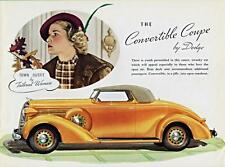 Old Print.  1936 Dodge Convertible Coupe Auto Ad