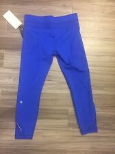 Lululemon Size 10 Inspire Tight II Pants CEBL Cerulean Blue Run NWT Mesh