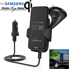 Qi Wireless Charger Dock Car Holder Charging Mount Pad For Samsung S6 S7 Edge UK