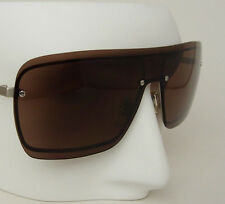 Yves Saint Laurent Unique Rimless Square Shield Designer Sunglasses Italy Made