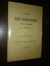 BULLETIN DE LA SOCIETE D'HISTOIRE NATURELLE DU DOUBS N°56 - Année 1952