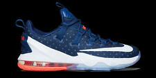 Nike Lebron XIII 13 Low SZ 10 USA Coastal Blue White Crimson Olympic 831925-416