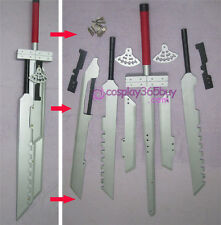 "Final Fantasy 7 Cloud Strife Blade sword combined 52"" wood made"