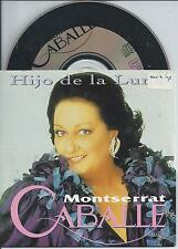 MONTSERRAT CABALLE - Hijo de la luna CD SINGLE 2TR CARDSLEEVE 1992 HOLLAND