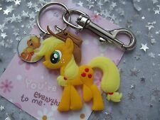 STRONG LARGE KEYRING MY LITTLE PONY APPLE JACK  FREINDSHIP IS MAGIC,[ GIFT BAG ,