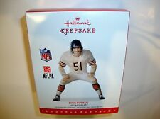 MIB HALLMARK 2016 DICK BUTKUS CHICAGO BEARS CRISTMAS TREE KEEPSAKE ORNAMENT