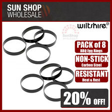 100% Genuine! WILTSHIRE Bar B Accessories Non-stick BBQ Egg Rings Pack of 8!