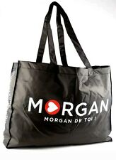 Morgan De Toi Black Tote Ladies Shopping Shoulder Bag Hand Bag With Morgan Logo