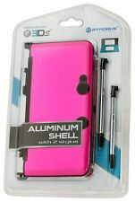 NEW Sealed PINK  Aluminum Shell with 2 Retractable Stylus Pens for Nintendo 3DS