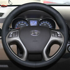 Leather Steering Wheel Cover for Hyundai Tucson SUV 2010 2011 2012 2013 2014 15