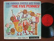 Famous Castle Jazz Band LP 1959 plays The Five Pennies EX Good Time Jazz M12037