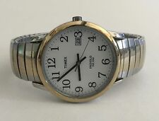 TIMEX STAILESS STEEL INDIGLO WR 30M STRETCH BAND MEN'S WRISTWATCH Needs Battery