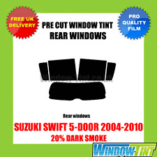 SUZUKI SWIFT 5-DOOR 2004-2010 20% DARK REAR PRE CUT WINDOW TINT