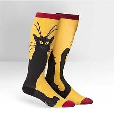 """""""STRETCH-IT size"""" CAT LOVER! Chat Noir on Unisex Wide Calf Knee Highs~Stretchy!"""