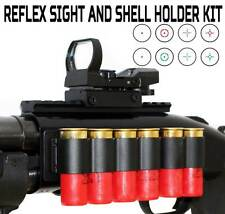 Tactical Reflex Sight with Mount And Shell Holder Kit For Mossberg 500 12 Gauge