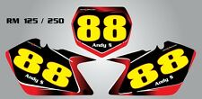 Custom Number plates for Suzuki RM 125 / 250
