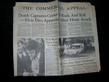 Antique Vintage Newspaper Commercial Appeal Elvis Presley Aug 17 1977