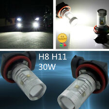 2 x White High Power H8 H11 30W LED Car Fog Light Daylight Running Light Bulbs
