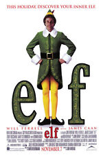 ELF HOLIDAY MOVIE POSTER - WILL FERRELL AND JAMES CAAN -  LARGE  24 x 36