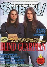 Burrn! Heavy Metal Magazine April 1998 Japan Blind Guardian Ratt Y&T Deep Purple
