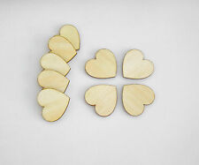 20 x Wooden Hearts Laser Cut Craft Embellishment DIY Decorations Set 5cm x 5cm