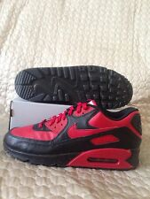 Nike Air Max 90 Leather iD Red/Black 653533-995 Men's Shoes Size 12 Rare