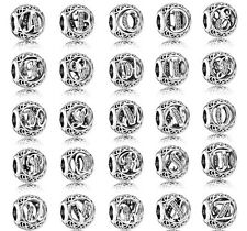 Pandora Charm  925 Sterling Silver Alphabet A-Z Letters Free Shipping