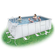 Bestway 13.5ft x 6ft6 x 48in Rectangular Steel Pro Frame Swimming Pool