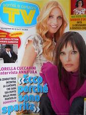 TV Sorrisi e Canzoni n°39 2010 Lorella Cuccarini Anna OXA  [D22]