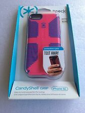 Authentic Speck SPK-2491 iPhone 5C Speck CandyShell Grip Leaf Cupcake Pink/Cobal