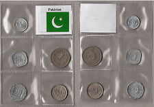 PAKISTAN SET OF 5 COINS CIRCULATED ON GOOD CONDITION SET MONETE BUONA CONSERVAZ