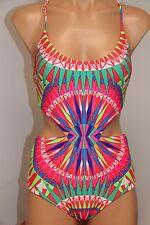 NWT Mara Hoffman Swim Swimsuit Bikini One 1 piece Sz S SPN Red