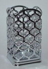 NEW BATH & BODY WORKS CHROME MOROCCAN METAL HAND SOAP SLEEVE HOLDER OLIVE OIL