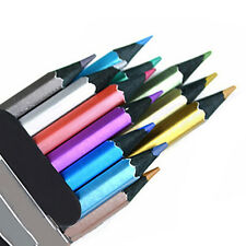 Marco 12 Color Metallic Non-toxic Art Drawing Colored Pencil Sketching Set