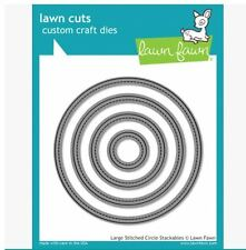 Lawn Fawn Lawn Cuts Cutting Die Set LARGE STITCHED CIRCLE STACKABLES  ~LF795