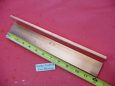 "2 Pieces 1/4""x 1-1/2"" C110 COPPER BAR 12"" long Solid Flat .25"" Bus Bar Stock H02"
