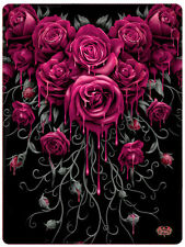 Spiral Direct BLOOD ROSE, Fleece Blanket|Roses|Blood|Gothic