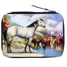 Wild Horses Drink Color Pen Case Bag Stationery Kit