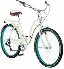 26 Schwinn Fairhaven Women's 7-Speed Cruiser Bike CREAM Exercise Ride Cardio Fun