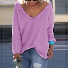 Women New Casual Long Sleeve Knitted Pullover Loose Sweater Jumper Tops Knitwear