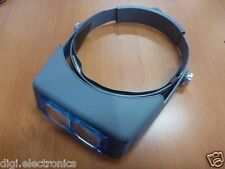 Headband Magnifier Visor Gem Magnifying Glass 2.5x Hobby Stamp Coin