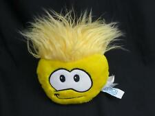 """LARGE DISNEY CLUB PENGUIN YELLOW PUFFLE 8"""" TO TOP OF HAIR 6"""" WIDE BODY PLUSH"""