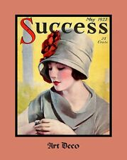 """A 10"""" x 8"""" Art Deco Print - Lady looking at her Watch - Success Magazine"""