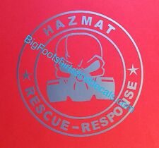 Hazmat Rescue Response Team Gas Mask Skull Emergency Responder car truck decal